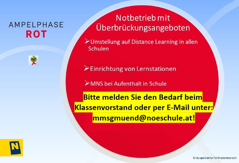 Distance Learning ab 17.11.2020 - Bild 1
